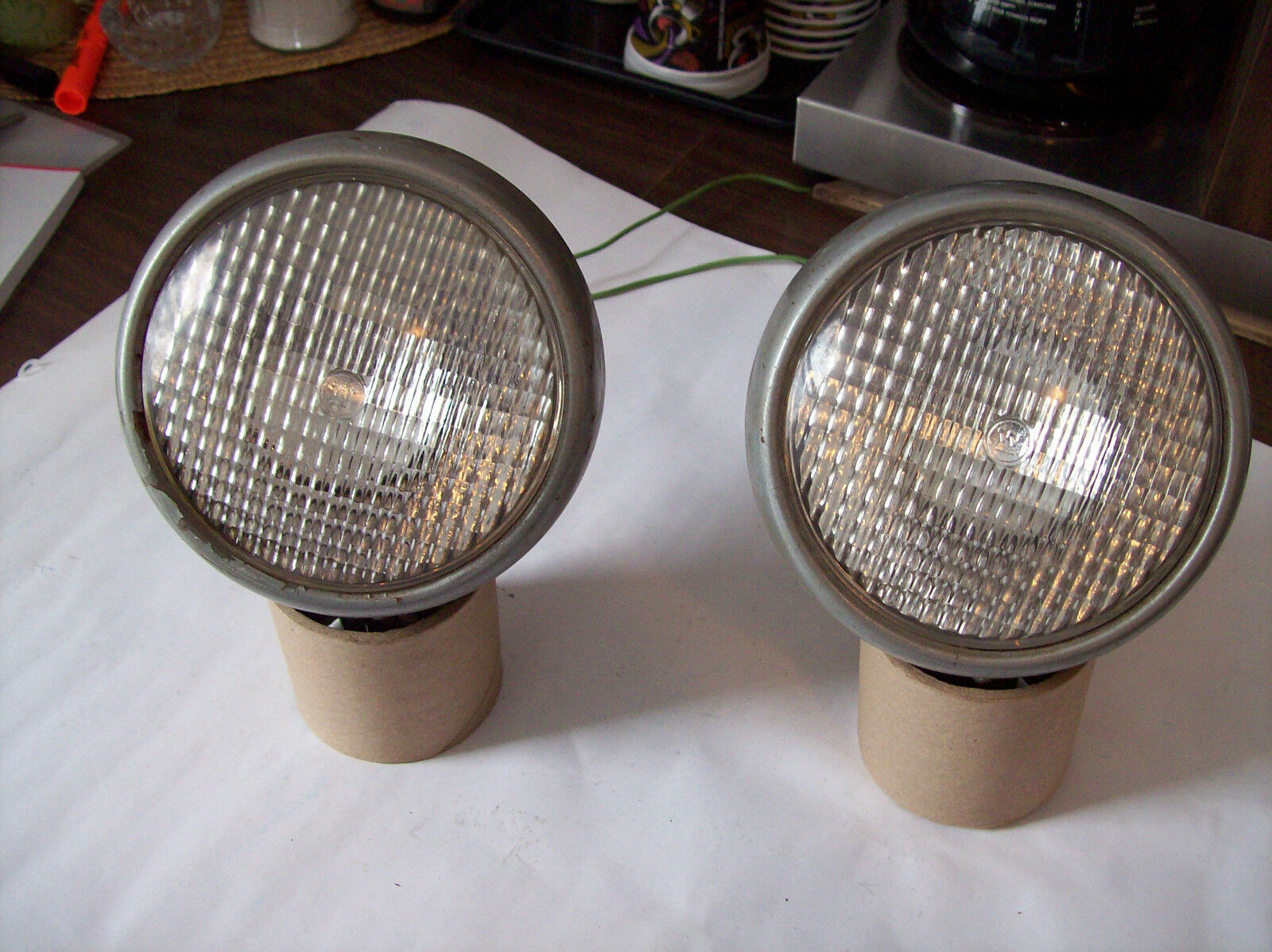 1940'S 50'S RAT HOT ROD TRACTOR DRIVING HEAD SPOT LIGHTS NOS DO RAY SIGNAL STAT
