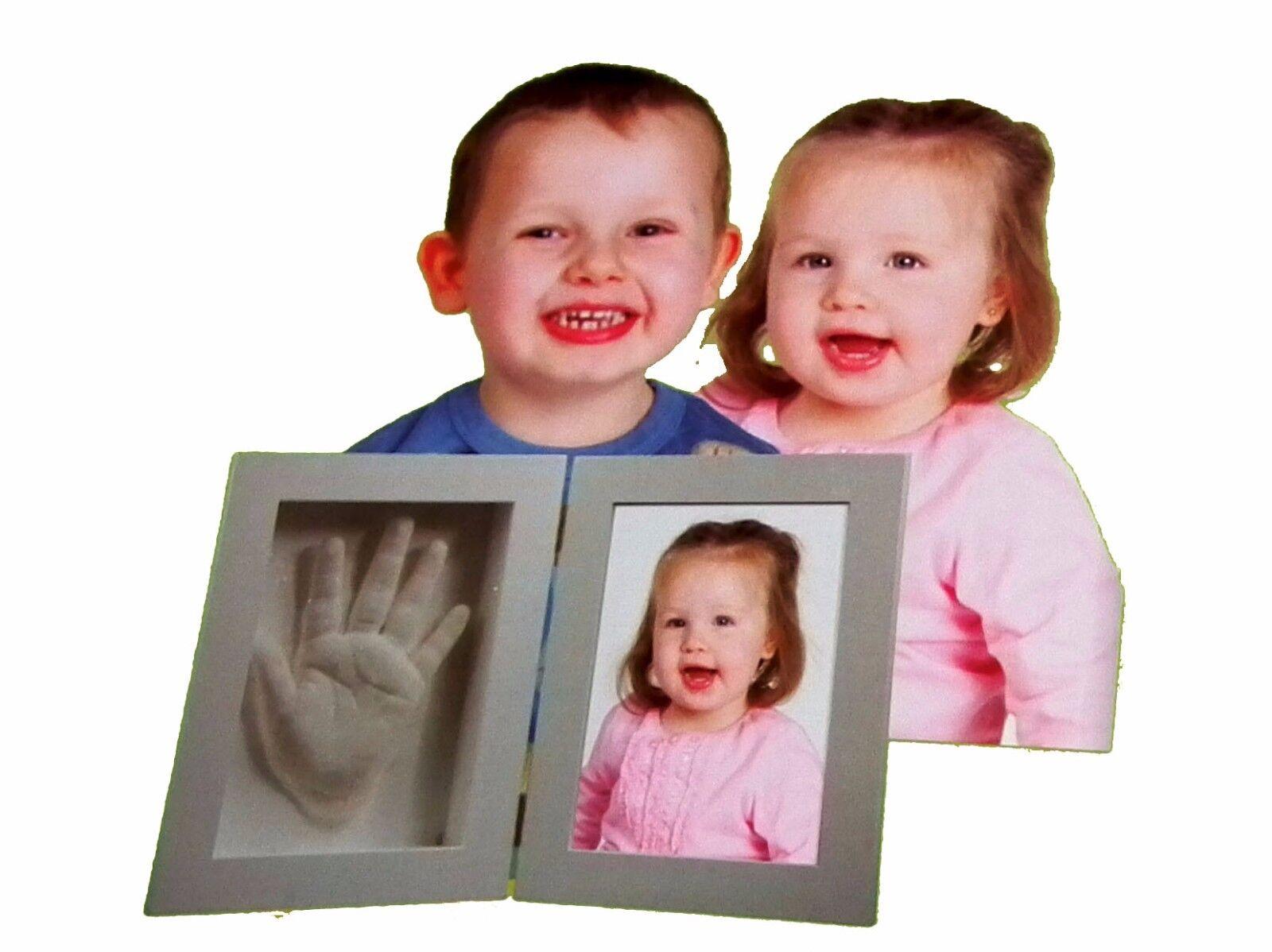 3D Set Bilderrahmen Handabdruck Fußabdruck vom Baby Kind Kinder schönes Geschenk