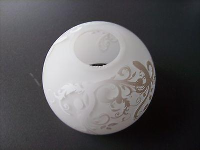 Verre Abat-Jour Verre Cône Blanc avec Motif E14 Dimension de Trou Version Ø 30mm d'occasion  Expédié en Belgium