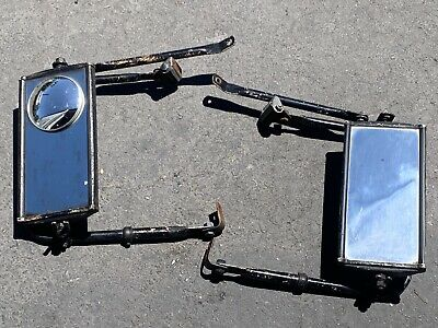 Vintage Pair West Coast Jr Pickup Truck Tow Mirrors Chevrolet GMC Ford Dodge C10