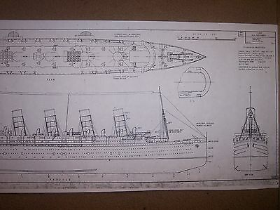 SS LUSITANIA ship boat model plans