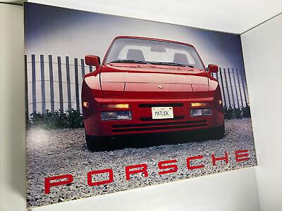 "Original Vintage 1988 Porsche Foam Board Printed Poster 19.5 X 30"" -Unique"