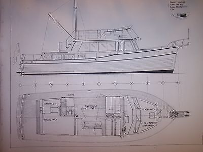 GRAND BANKS MOTOR YACHT  MODEL PLAN  for sale  Shipping to Canada
