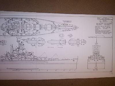 USS INDIANA  BB58 ship boat model boat plans