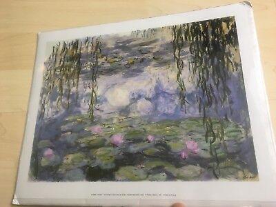 Claude Monet Print Nympheas et branches de saules- Musee Marmottan, Paris H-2782