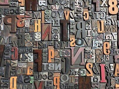 Lot Of 100 Large Vtg Metal Wood Letterpress Print Type Block Alphabet Letters S