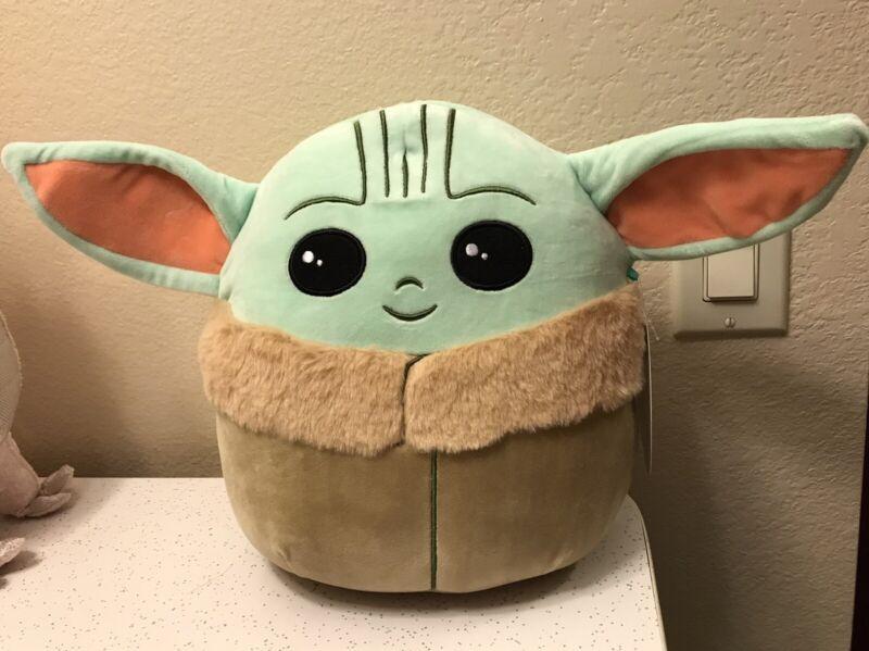 "Squishmallow Star Wars Mandalorian Baby Yoda The Child Grogu 10"" Plush Doll New"