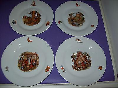 Kinderteller 4-teilig Kindergeschirr 4 verschiedene Märchen Set Teller