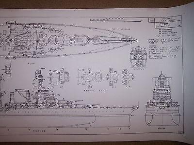 BB 45 uss colorado ship boat model boat plan