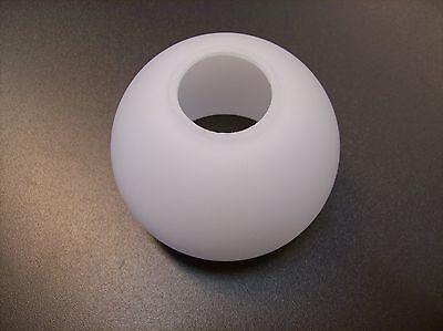 Glas Lampenschirm Ersatzglas halb Kugel mattglas weiß Lochmaß Fassung E14 ø 30mm