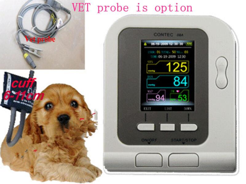 New ,contec08a Digital Blood Pressure Monitor For Vet ,nibp+cuff+,big Sales