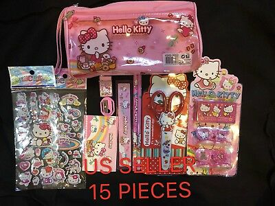 Hello Kitty 15 Pieces Stationery Gift Set School Supplies  Brand New  3 Years Up