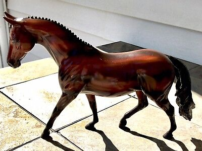 Rare Peter Stone Dark Bay Pony Model Horse