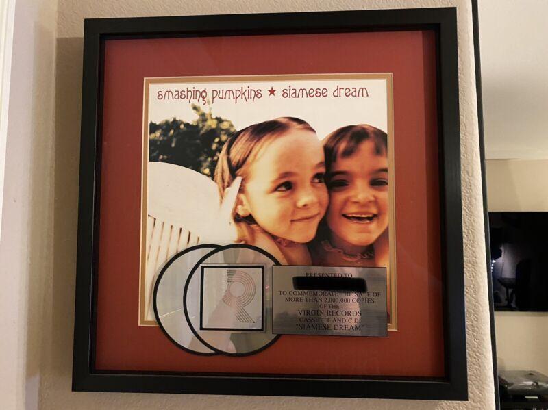 Smashing Pumpkins Siamese Dream RIAA Award