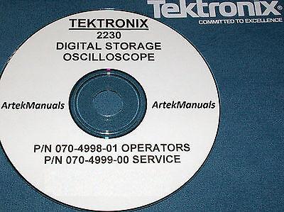 Tektronix 2230 Oscilloscope Service Operators Manuals 2 Volumes