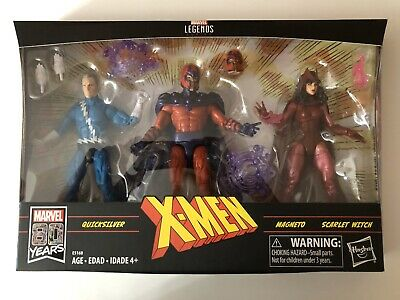 MARVEL LEGENDS X-MEN FAMILY MATTERS 3-PACK MAGNETO QUICKSILVER SCARLET WITCH MIB