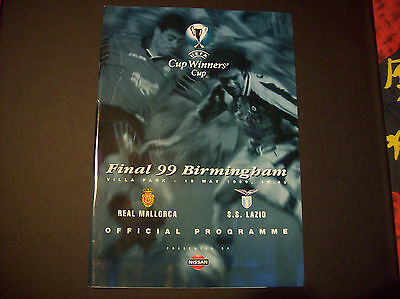 PROGRAMME FINALE C2 1999 REAL MALLORCA-SS LAZIO ROME