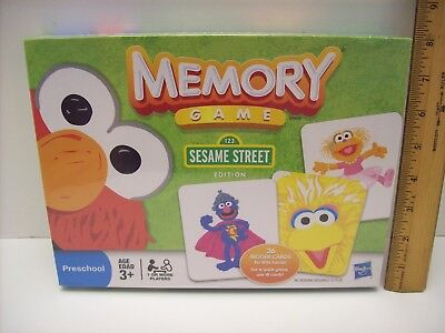 Sesame Street Memory Game (Hasbro Memory Game: Sesame Street  Edition 2011 - NEW/Sealed )