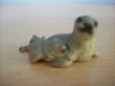 Ornament Ornamental Minature Seal With Pup Whimsey Size by R Robin