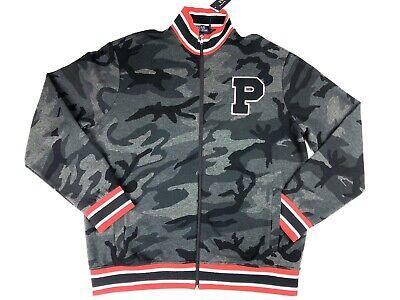 Polo Ralph Lauren XL Mens Camo Grey Gray Track P Patch Bomber Letterman Jacket
