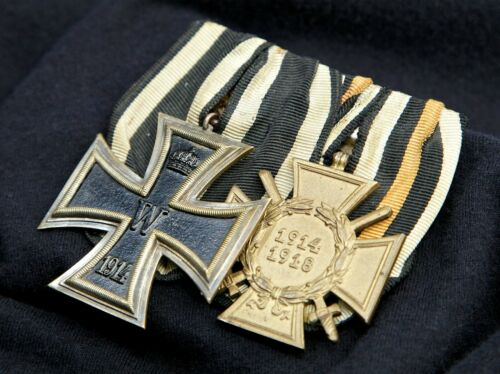 Iron Cross 2nd Class & Hindenburg Honor Cross Prussian Parade Mounted Bar