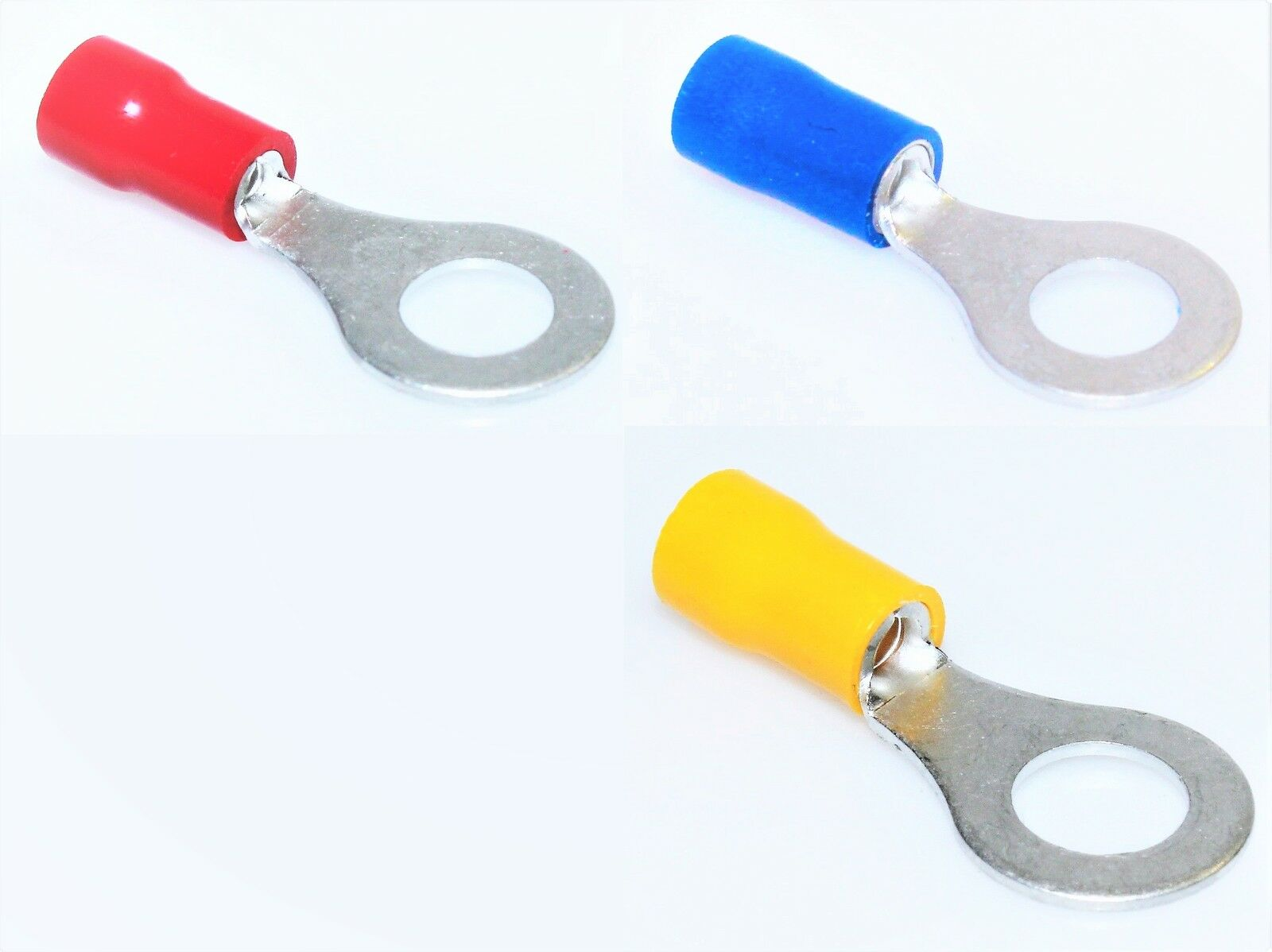 10 Ringösen M5 Ringzunge Ringkabelschuhe Quetschverbinder GELB 6mm²