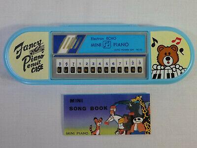 ELECTRON ECHO VTG 80's MINI PIANO + SONG BOOK IN LIGHT BLUE