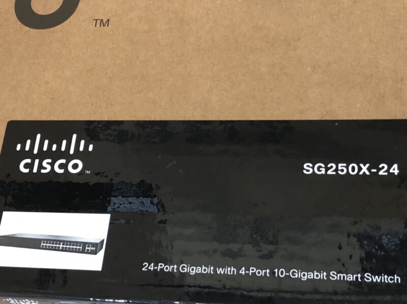 Cisco Sg250x-24 24-port Gigabit With 4-port 10-gigabit Smart Switch