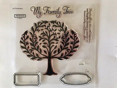 """(CTMH Close To My Heart Acrylic Stamps """"Family Tree"""" D1526)"""