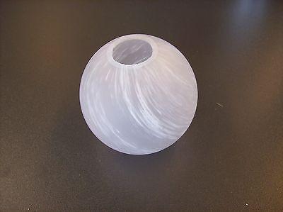 Glas Lampenschirm Ersatzglas halb Kugel weiß G9 Lochmaß Fassung ø 23mm