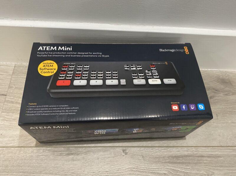 Blackmagic Design ATEM Mini Video Switcher New in Factory Box