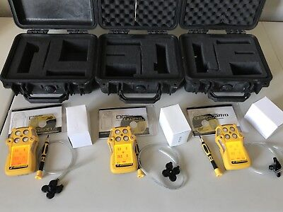 Bw Gasalert Quattro Multi Gas Monitor Detector Meter H2slelcoo2 Calibrated