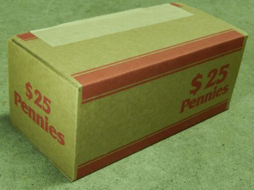 Lincoln Wheat Cent Penny Roll Box Sealed $25 Old US Coins Lot 1909-1958 P D S
