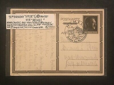 STAMP/POSTCARD LITHUANIA MEMEL-KLAIPEDA-50thBIRTHDAY*HITLER*CANCEL-SC#B120#01724