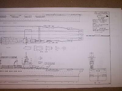USS LEXINGTON CV2  ship plans