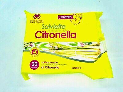 Salviette alla Citronella repellente Per Zanzare Stop Protezione Totale Insetti