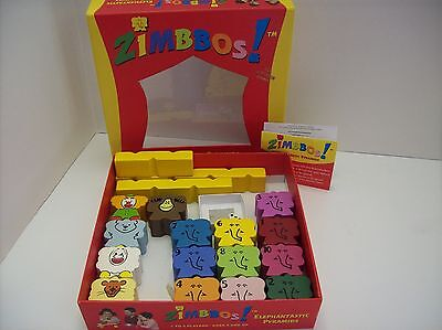 Zimbbos Stacking Elephant Wood Educational Block Game Age 3+ FREE SHIP USA