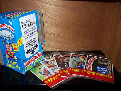garbage pail kids Giant Stickers 5 open packs 1986 Topps Plus Box! complete set