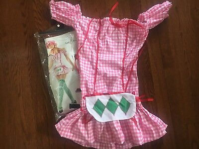 Womens Little Bo Peep Costume Pink Adult Size Small - Little Bo Peep Adult Costume