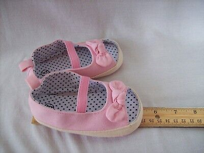 New Infant baby girl pink open toe shoes size 3     US Seller