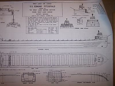 ss edmund fitzgerald ship plans
