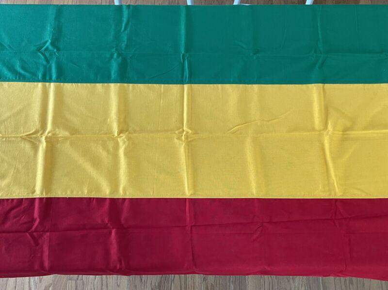 Ethiopia Vintage Bulldog Bunting Dettra Flag 4x6 Made USA Educational 1960s