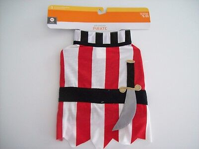 Pet Costume Pirate Size S Dog 1 Piece Halloween Outfit - NEW](Dog Pirate Outfit)