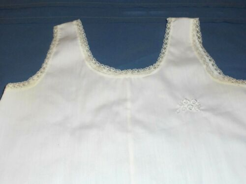 "Vintage HER MAJESTY Cotton Slip Petticoat Size 6X ~22"" Long~ GUC"