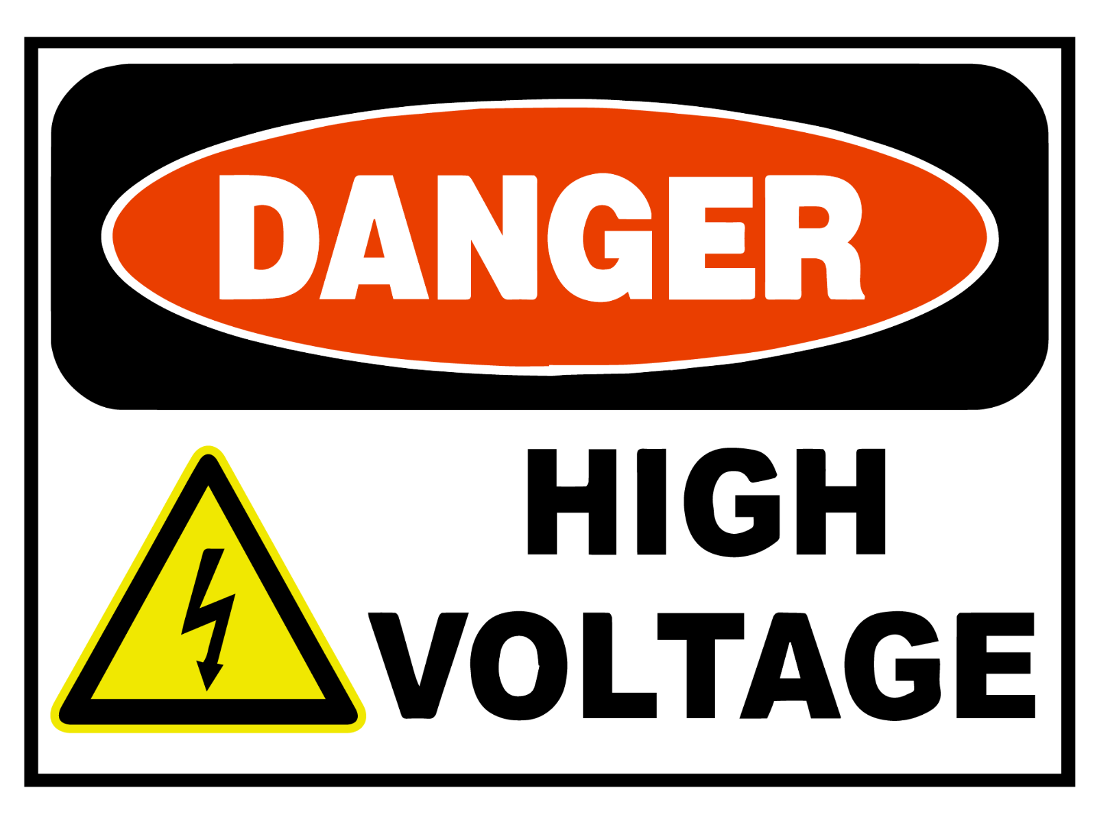 Decals Sticker Danger High Voltage Peligro Alto Voltaje car st7 X8977