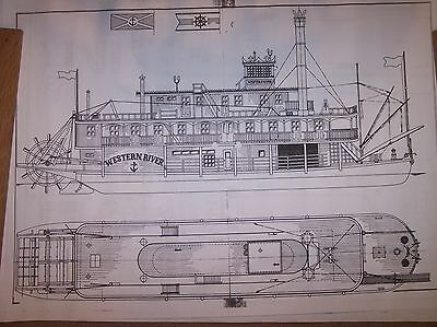 stern wheel river boat ship boat model boat plans