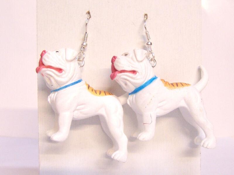 "NEW American Bulldog Bull Dogs 1.75"" Hood Hounds Figures Dangle Earrings"