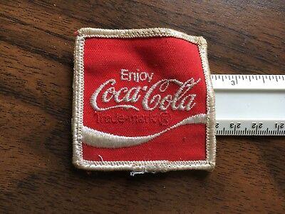 Vintage Coca Cola Coke cloth square advertising patch