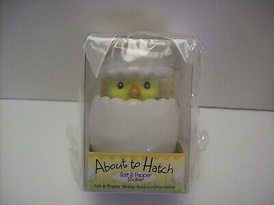 KATE ASPEN ABOUT TO HATCH BABY CHICK SALT & PEPPER SHAKERS EASTER SPRING DECOR