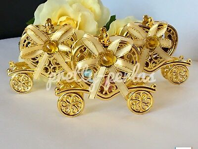 12PC Wedding Fillable Baby Shower Quince Favors Princess Table Decoration Gold - Wedding Table Favors
